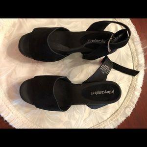 Jeffrey Campbell Black Platform Sandals